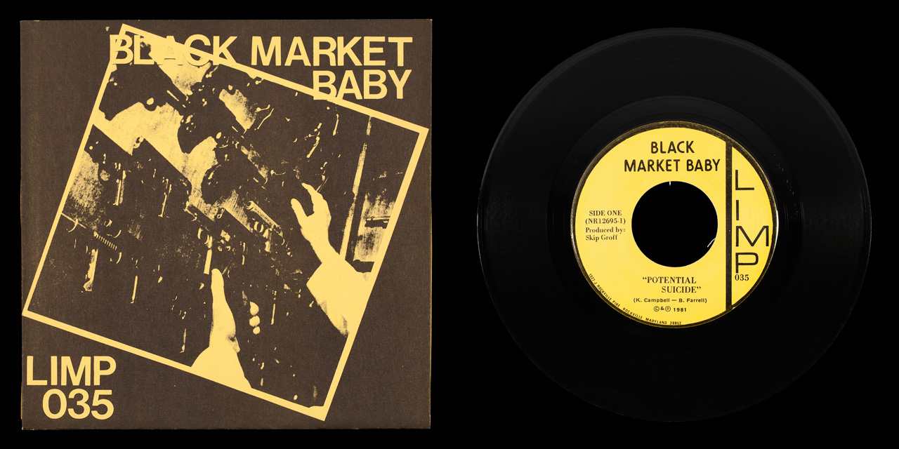 Black Market Baby Potential Suicide front on Limp Records