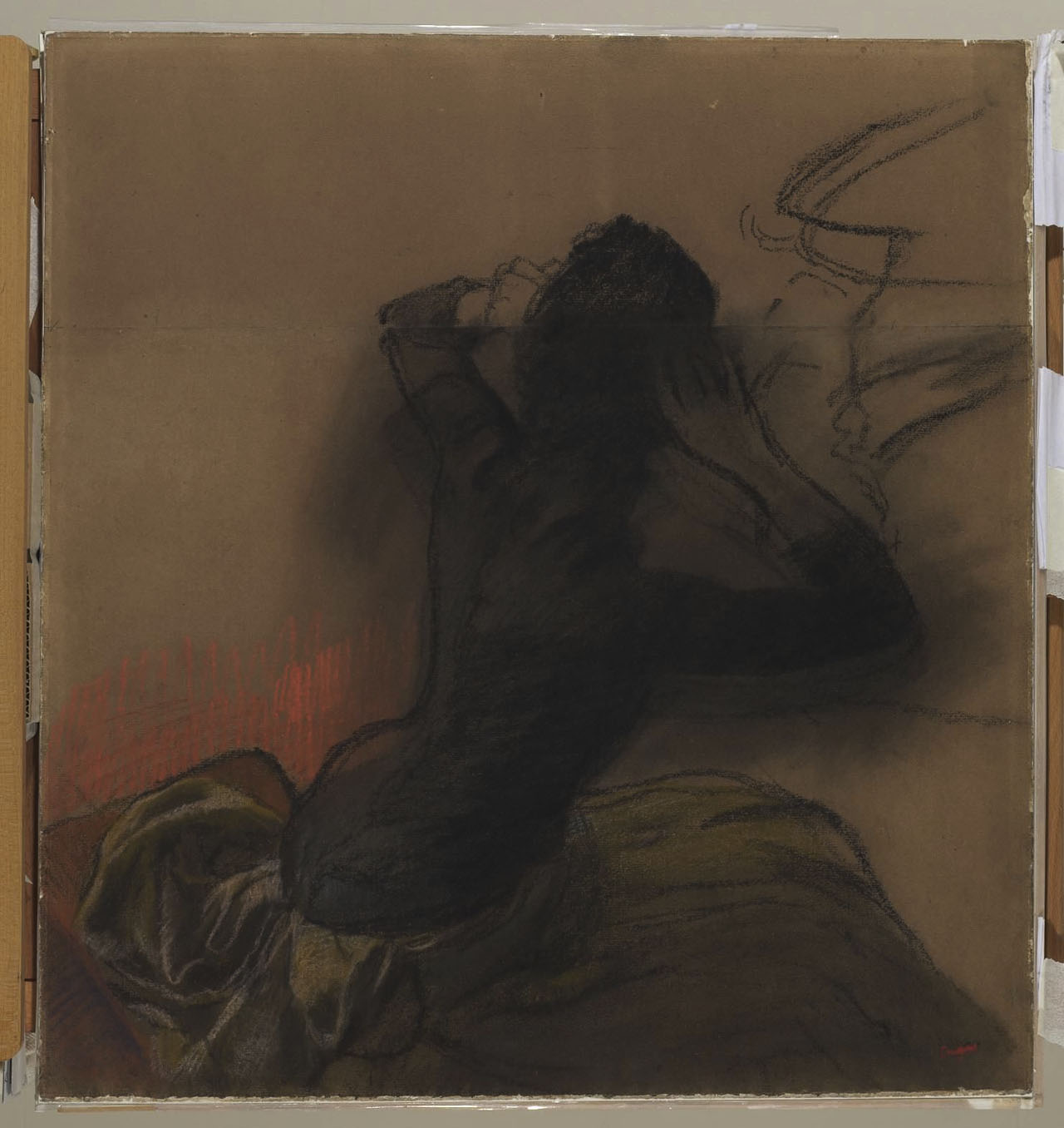 Edgar Degas: Woman Adjusting Her Hair, Courtauld D.1948.SC.115