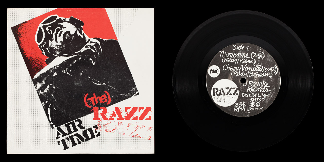 Razz Airtime front cover and vinyl on Limp Records