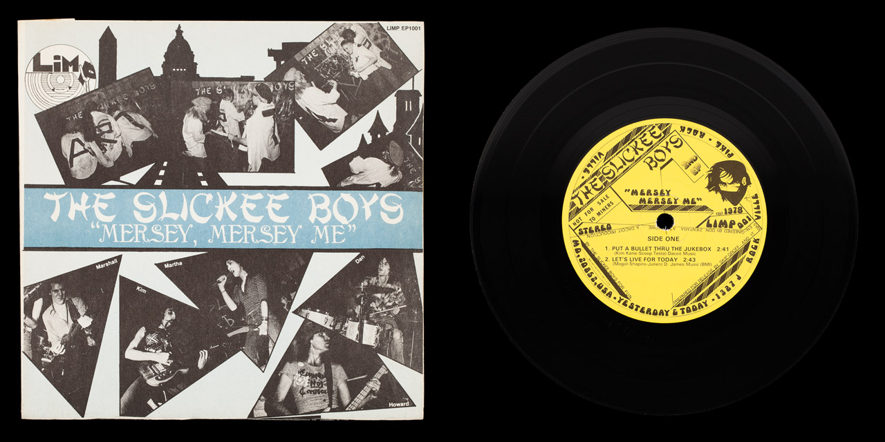 Slickee Boys Mersey Mersey Me first press front cover and vinyl on Limp Records