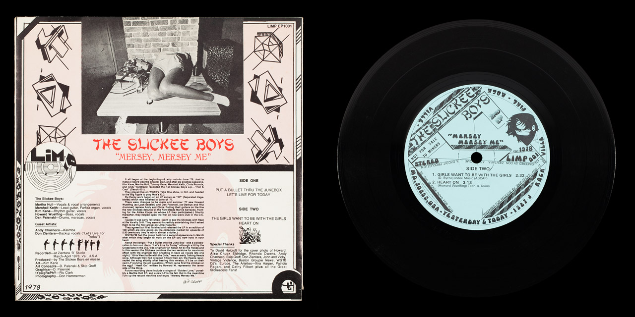 Slickee Boys Mersey Mersey Me second press back cover and vinyl on Limp Records