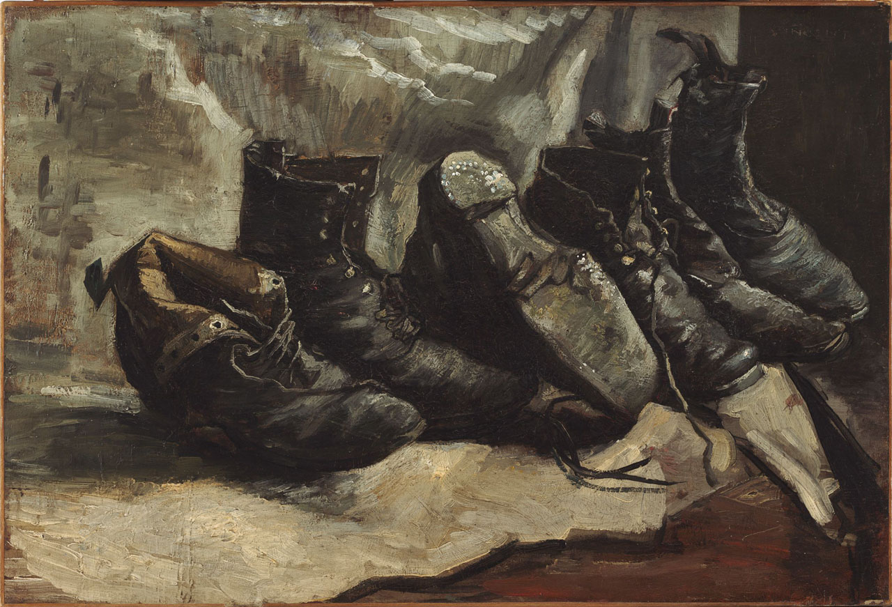 Vincent van Gogh: Three Pairs of Shoes (F332, JH1234), Fogg Museum 1951.66